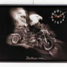 34071 Eagle and Motorcycle Wall Clock