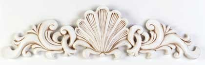 34119 Ivory-Finish Scallop Wall Plaque