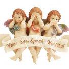 34131 See, Hear, Speak No Evil Cherub Wall Plaque