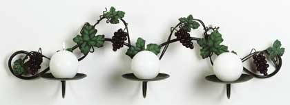 34137 Metal Grapevine Wall Candle Holder