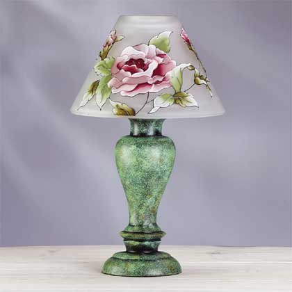 34220 Victorian Rose Candle Lamp
