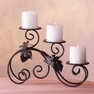 34272 Wrought Iron and Grapes Candle Holder