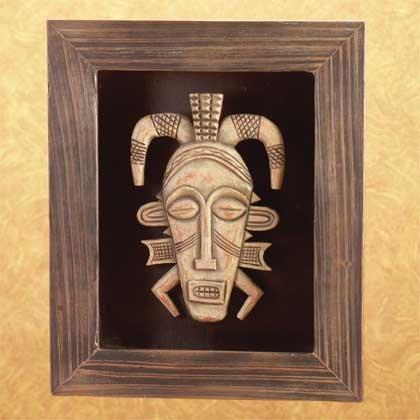 34293 Framed African Tribal Mask