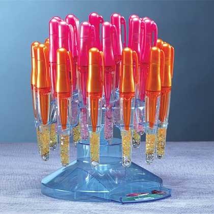 34309 2-Dozen StarGlow Writer Pens with Display (Retail - 3.99ea)
