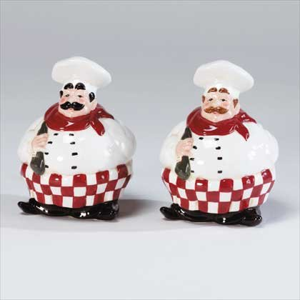34322 Chubby Chef Salt and Pepper Shakers