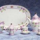 34502 Lavender Floral Mini Tea Set