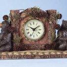 34614 Bear and Pine Cone Desk Clock