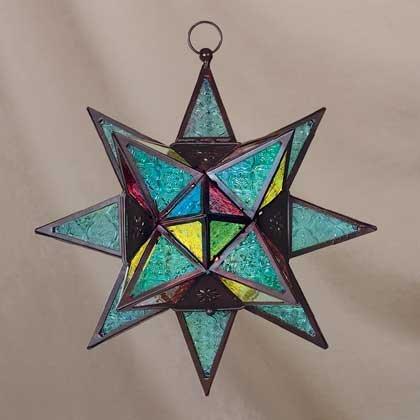 34690 Star-Shaped Candle Lantern