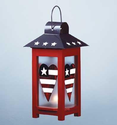 34728 Patriotic Candle Lantern
