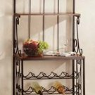 34775 Wood Metal Wine Rack Shelf