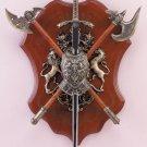 34813 Sword, Axe and Shield Display