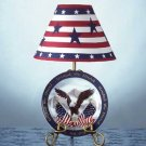34832 Patriotic Eagle Plate and Lamp Set