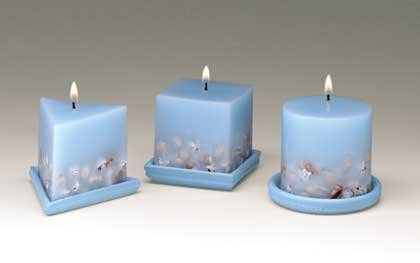 34883 Seashell Design Candles