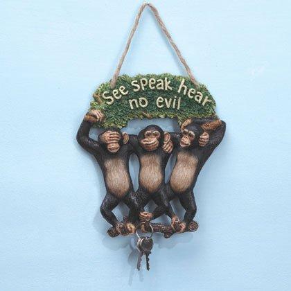 35003 See, Hear, Speak Monkeys Keyholder