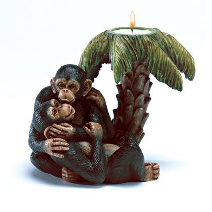 35004 Monkey Lovers Candleholder