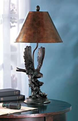 35033 Eagle On Branch Lamp
