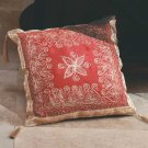 35021 Gold Embroidered Red cushion With Tassels