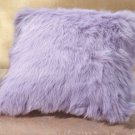 35046 Lavender Faux Fur Pillow - 17""