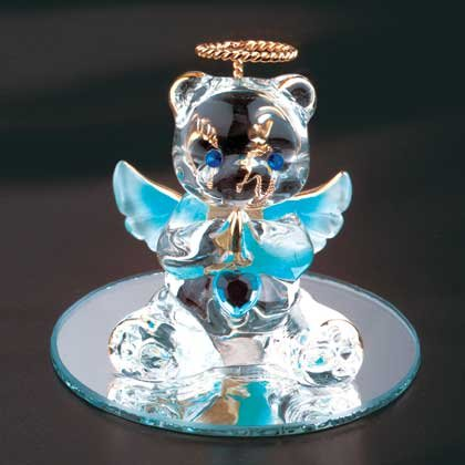 35069 March Glass Angel Bear