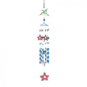 35094 Hummingbird And Morning Glory Windchime