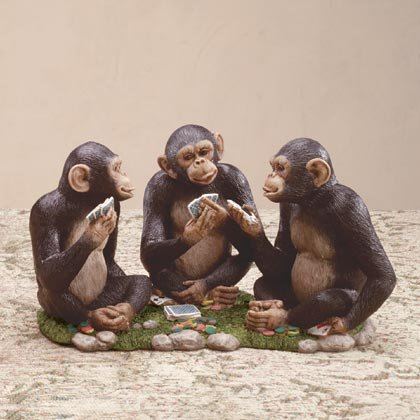 35191 Monkeys Playing Card Game