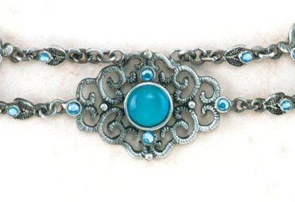 35241 PK 6 Pewter Cat's Eye Necklaces (Retail - 7.95ea)
