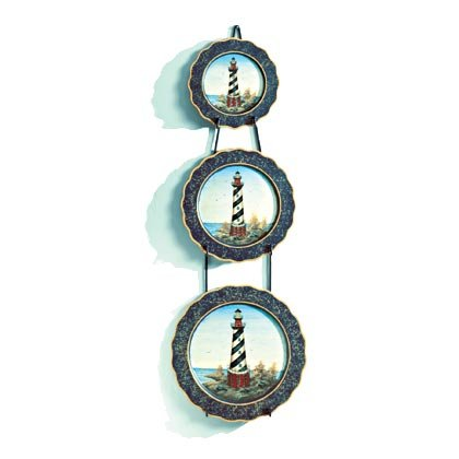35258 Lighthouse Motif Plate Set