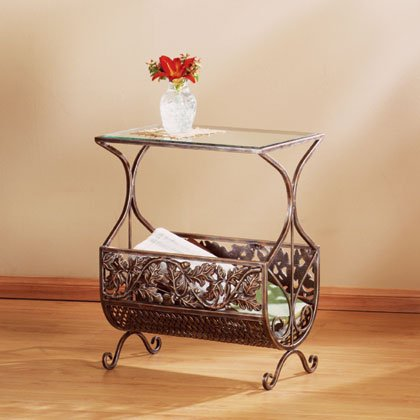 35333 Cast Iron Table and Magazine Rack
