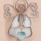 35361 Angel March Birthstone Heart
