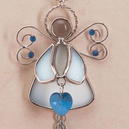 35367 Angel September Birthstone Heart