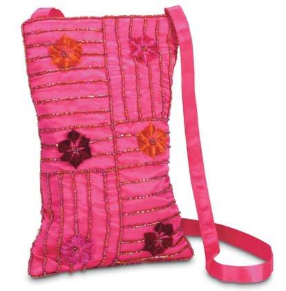 35540 Embroidered Flower Bag