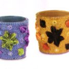 35541 4 Piece Flowers Votive Holders