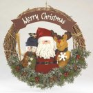 35577 Plush Santa & Friends Wreath