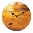 35688 Footprints Patchwork Clock