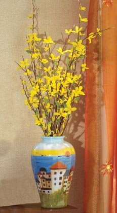 35670 Patchwork Fabric Vase