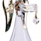 30818 Glass Angel With April Birthstone
