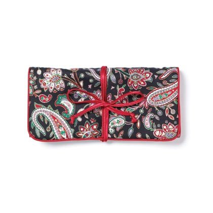 36766 Black Red Paisley Travel Bag