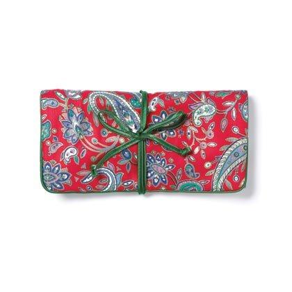 36764 Red Green Paisley Travel Bag