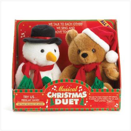 36761 Musical Plush Snowman And Bear
