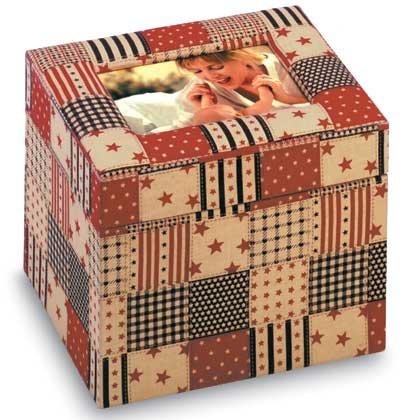 34874 American Country Fabric Photo Box