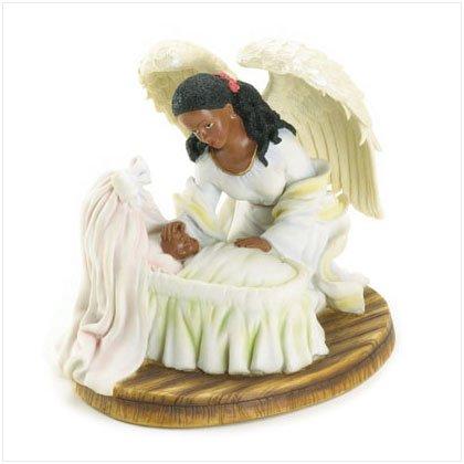 36298 Guardian Angel Baby In Cradle