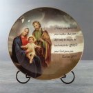 33819 Porcelain Patchwork Holy Family Plate