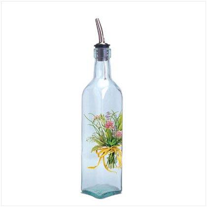 35825 HERB BOUQUET GLASS OIL BOTTLE