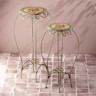 34142 Metal Rose Tables & Plant Stands