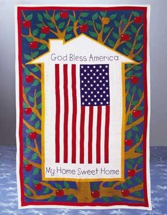 34164 US Flag Pattern Cotton Sheet