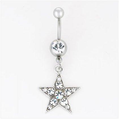 36912 Star Dangle Belly Jewelry