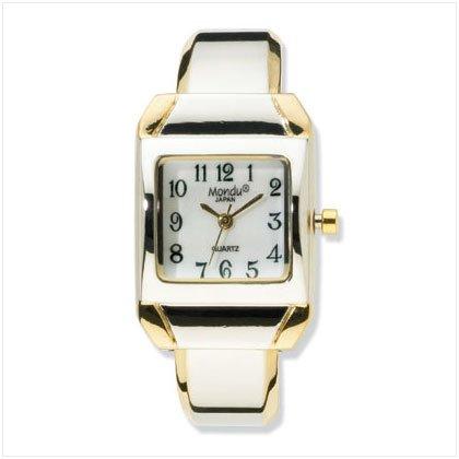36580 Two-Tone Cuff Bracelet Watch