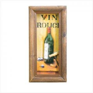 36414 Vin Rouge Shadowbox Art