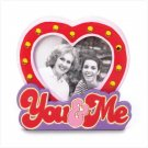 36610 You & Me Wood Heart Photo Frame