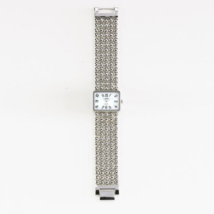 36805 Silver Beaded Lady's Watch